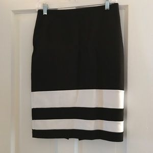 Black and White WHBM Pencil Skirt